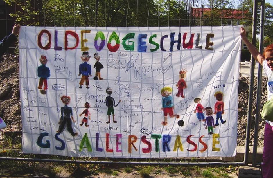 Transparent Allerstraße/Oldeoogeschule