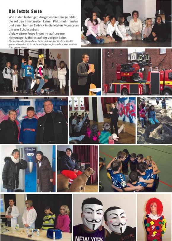 Die letzte Seite der Schulzeitung ist, wie unsere Leser es inzwischen gewohnt sind, eine Bildersammlung quer durch den Inhalt dieser Zeitung.