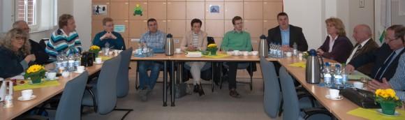 Schulausschussitzung im Lehrerzimmer der GS Rheinstraße am 6.3.2014