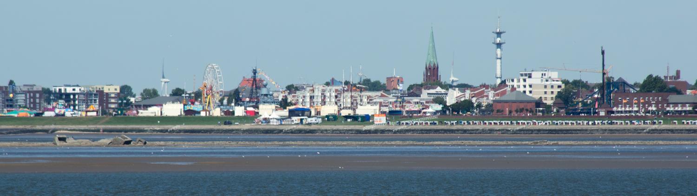 Panorama der Südstadt, vom Schiff aus fotografiert