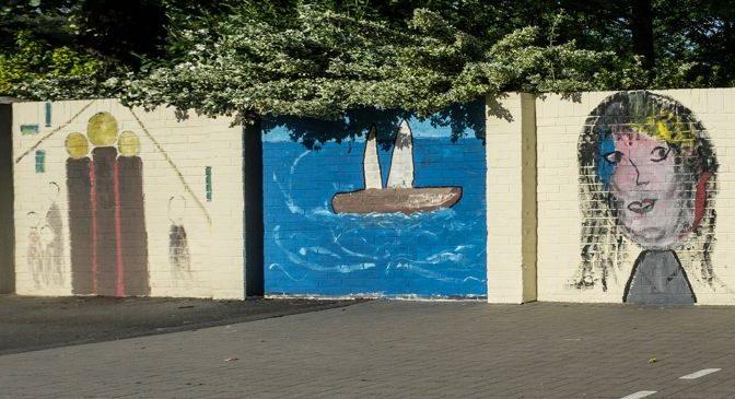 Mauer wurde gestaltet