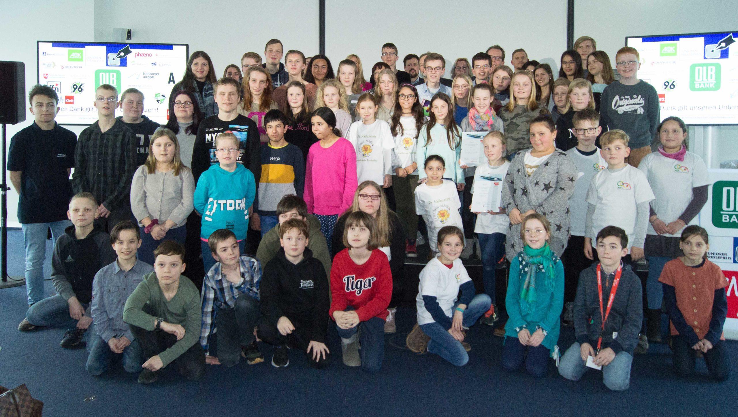 Alle Teilnehmer an der Preisverleihung 2020